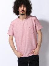 クルーネック WポケットTシャツ(バンダナ柄)