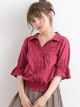 【WEB限定価格】☆Jカシュクール風刺繍ブラウス