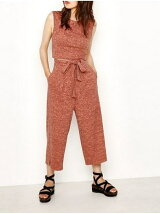 MELANGE RIB WIDE PANTS