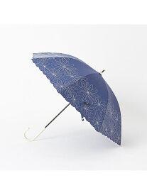 LOWELL Things 【晴雨兼用】長傘/マーガレット裾刺繍 ロウェル シングス ファッショングッズ 日傘/折りたたみ傘