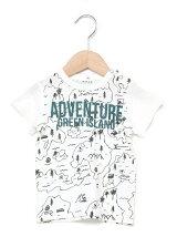天竺アドベンチャーマップ柄半袖Tシャツ
