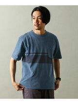 ピグメントラインプリントTシャツ