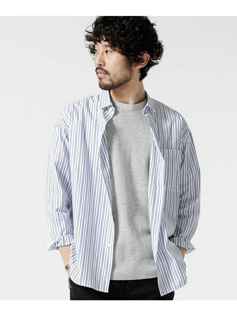 nano・universe マルチストライプワイドシャツ ナノユニバース シャツ/ブラウス【送料無料】