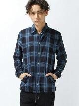 (M)NAVAL Select/インディゴチェックコーチシャツジャケット