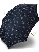 EJ69 タイポグラフィー柄長傘(雨傘)