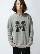 (M)ロゴクルーネックセーター