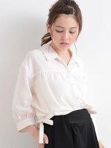 ○E脇リボンシャツ