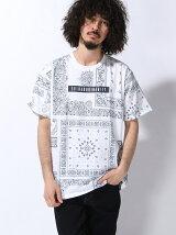 (M)/ストリート総柄半袖Tシャツ
