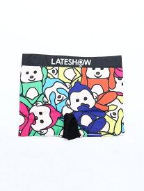 LATESHOW LATESHOW/(M)日光3猿 ハンドサイン インナー/ナイトウェア ボクサーパンツ/トランクス ブルー レッド
