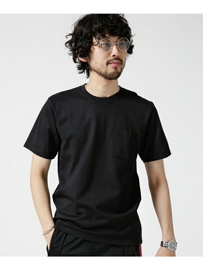 【SALE/10%OFF】nano・universe Anti Soaked ヘビークルーネックTシャツ ナノユニバース カットソー【RBA_S】【RBA_E】【送料無料】