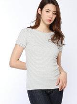 30/-コーマフライスパフスリーブTシャツ