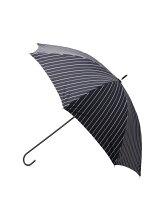 ラメストライプ長傘(晴雨兼用)