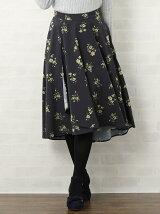 小花柄ミディー丈スカート