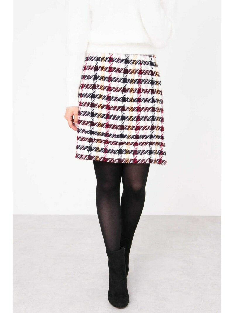 PROPORTION BODY DRESSING カラーチェック台形スカート プロポーションボディドレッシング スカート【送料無料】
