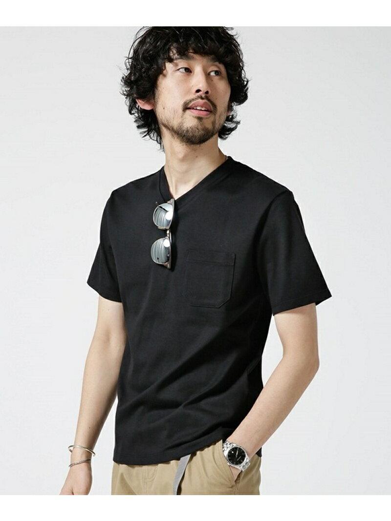 【SALE/10%OFF】nano・universe Anti Soaked ヘビーVネックTシャツ ナノユニバース カットソー【RBA_S】【RBA_E】【送料無料】