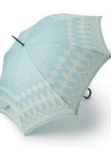 EJ71 レース柄長傘(雨傘)