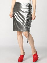 (W)DEX METALLIC SHIRRED SKIRT