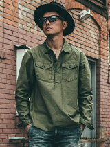 JOE MILITARY PULL OVER SHIRT