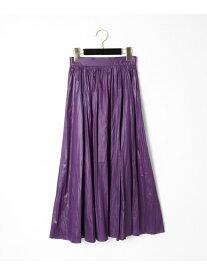 GRACE CONTINENTAL コーディングギャザースカート グレースコンチネンタル スカート スカートその他 パープル ブラウン ブラック【送料無料】