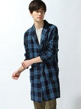 (M)NAVAL Select/インディゴチェックガウンシャツ