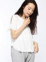 肩アキリボンTシャツ