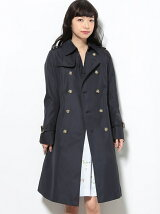 【花粉対策 撥水加工】ロングトレンチコート スプリングコート