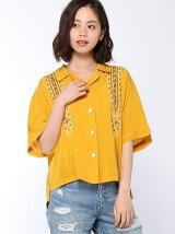 クロス刺繍ボウリングシャツ