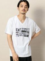 BY YOLO PHOTO Vネック Tシャツ