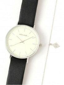 niko and... (W)SIMケースブレスツキウォッチ ニコアンド ファッショングッズ 腕時計 ブラック ホワイト ブラウン ベージュ