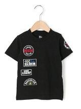 ワッペン付き半袖Tシャツ天竺