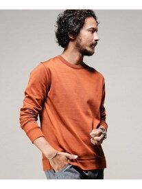 nano・universe 思いきり洗えるニットクルーネックL/S ナノユニバース カットソー Tシャツ ブラウン ネイビー グリーン ブラック グレー ホワイト【送料無料】