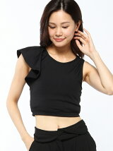 (W)LILY CROPPED TOP(BLACK)