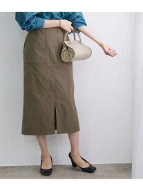 【SALE/10%OFF】ROPE' ポケット付きストレッチタイトスカート ロペ スカート スカートその他 ブラウン ベージュ ブルー【送料無料】