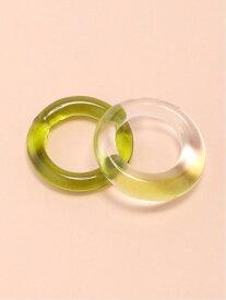 JEANASiS ガラス2Pリング ジーナシス アクセサリー リング グリーン ブラウン