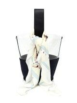 スカーフ付き塩ビ バッグ