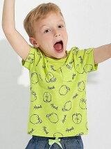 【KIDS】フルーツソウガラ プリント Tシャツ