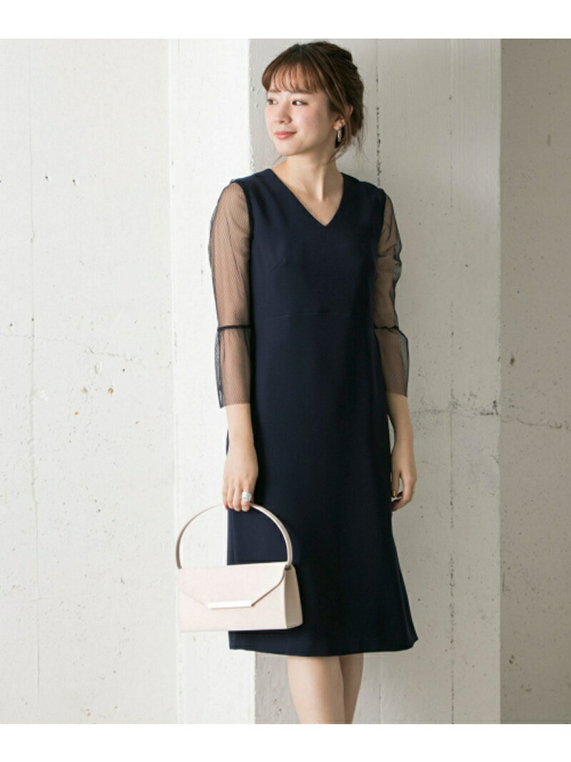 URBAN RESEARCH COUTURE MAISON メッシュレース袖ワンピース アーバンリサーチ ワンピース【送料無料】