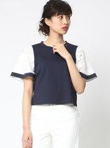 袖3DレースTシャツ