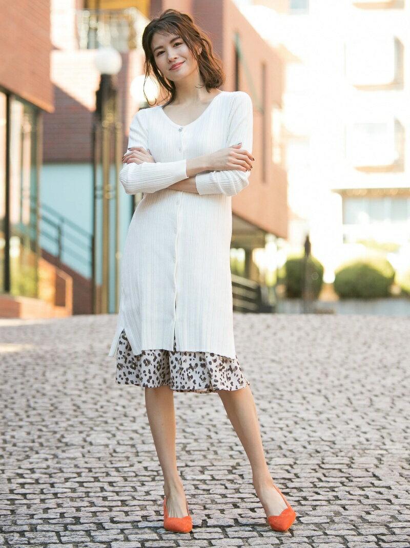 【SALE/50%OFF】Fabulous Angela MANY WAYロングリブニットOP×レオパードプリーツSK SET ファビュラスアンジェラ ビジネス/フォーマル【RBA_S】【RBA_E】【送料無料】