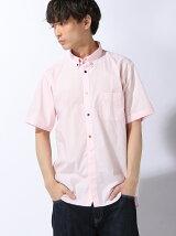 BEAMS / ブロード マルチボタン 半袖シャツ