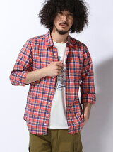 (M)コットンラミーリネン7分丈シャツ