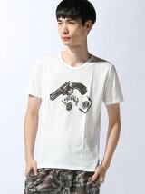 TETE HOMME/(M)CITY HUNTERクルーT 銃とタバコ