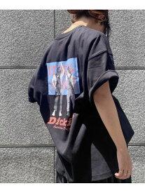 ViS 【別注カラー:ラベンダー】【Dickies】ロゴプリントビッグTシャツ ビス カットソー カットソーその他 ブラック グレー ホワイト パープル