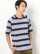 SC MLT/ボーダー ラグラン C/N 5分袖 Tシャツ