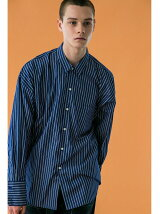 <monkey time> STRIPE WIDE REG W/CUFFS SHIRT/シャツ