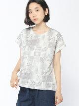 水彩タイルプリントTシャツ
