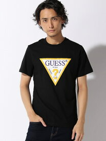 GUESS GUESS/MEN'S KNIT SHIRT ビリゴ カットソー Tシャツ ブラック ブルー ホワイト イエロー【送料無料】