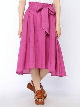 共リボン付ロングスカート