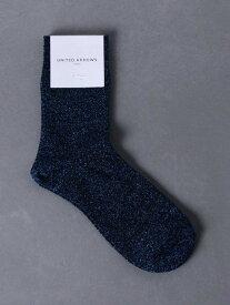 UNITED ARROWS UWCSラメソックス2 ユナイテッドアローズ ファッショングッズ ソックス/靴下 ブルー ブラック グレー