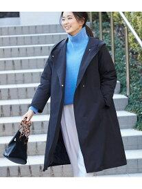 【SALE/60%OFF】ROPE' 【裏地ダウン】ロングフーデッドコート ロペ コート/ジャケット ダウンジャケット ブラック ベージュ ブルー【送料無料】
